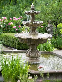 love fountains, I have 4 and 4 birdbaths scattered around in the may flowerbeds- This fountain is like the one in my courtyard! bjw