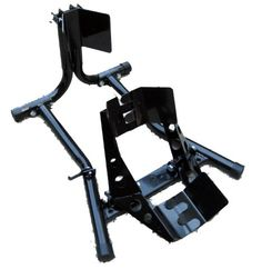 Motorcycle Wheel Chock Self-Locking Holds bike securely on trailer allowing 1 person to easily load / unload and attach tie-downs. Securely clamps 16 and 17 inch tires, ideal for sportbikes. 2 holes for mounting. Durable gloss black powder coat finish. Ideal for garage or trailer.  #MJ_Moto_Gear #Automotive_Parts_and_Accessories