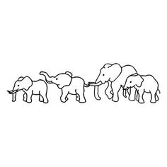 Elephant Family Temporary Tattoo Gold Metallic by TattooFun -- Awesome products selected by Anna Churchill