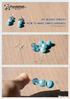 Jewelry Making Tutorial-How to Make Simple but Lovely Earrings with Beads   PandaHall Beads Jewelry Blog
