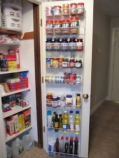 Organized Food Pantry In A Coat Closet. I