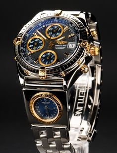 Spring drive is a new movement utilized in watches. It was established by Seiko Epson and is now utilized in Seiko Spring drive watches. Breitling Chronomat, Breitling Watches, Stylish Watches, Luxury Watches For Men, Amazing Watches, Cool Watches, Skeleton Watches, Dream Watches, Expensive Watches