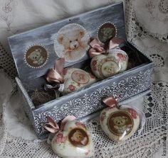 Новый год 2015 ручной работы. Ярмарка Мастеров - ручная работа Подарочный набор новогодних ёлочных игрушек -Мишки. Handmade.
