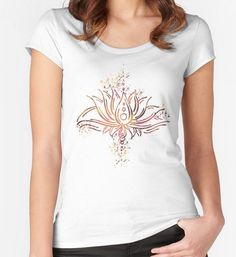 Graphic tee - Light flower - ASCasanova  illustration, mandala, lotus http://www.redbubble.com/people/ascasanova/works/16192059-the-light-fower?p=womens-fitted-scoop&style=womens-fitted-scoop&body_color=white&size=small&print_location=front