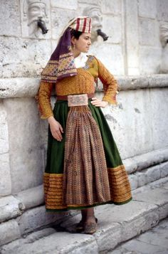 Europe | Portait of a woman wearing traditional clothing, Scanno, province of L'Aquila, Abruzzo region, Central Italy