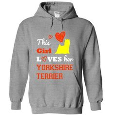 This Girl Loves Yorkshire Terrier T Shirts, Hoodies. Check price ==► https://www.sunfrog.com/Pets/This-Girl-Loves-Yorkshire-Terrier-9259-SportsGrey-17576338-Hoodie.html?41382