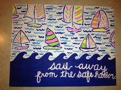 Lilly Pulitzer painted canvas wall art