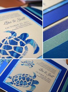Modern Ocean Wedding | Momental Designs – Unique Handmade Wedding Invitations, Custom Invitations by Artist, Kristy Rice