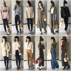 I'm the strongest wearing corde of reika's to be helpful because it is a standard color & petit plastic! Standard colors and basic items Japanese Outfits, Korean Outfits, Mode Outfits, Chic Outfits, Korean Girl Fashion, Korean Street Fashion, Fashion Pants, Fashion Outfits, Womens Fashion