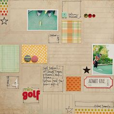 luv how the patterned paper is used as an design element