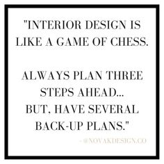 Chess is a strategic game. You have to simultaneously create several game plans as the other person makes their move so you can eventually succeed. ⠀⠀ Interior design is like this in the sense that if you want to always know your next three moves, but be ready to change your execution based on the circumstances you can't control. ⠀⠀ WHERE MY FELLOW CHESS PLAYERS AT!?! ⠀⠀ #interiordesign #designinterior #interiors #interiordecorating #ONLINEinteriorDESIGN #interiordecoratingideas #IDIstudent…