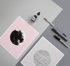 Ink 'd Pink Archival Print 8 x 10 van SketchInc op Etsy