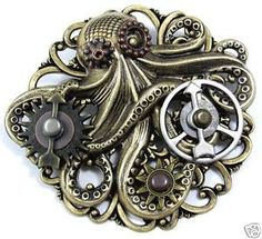 Cthulhu gear for steampunk jewelry
