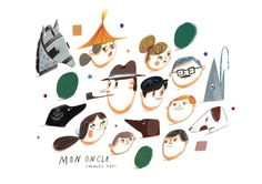Sweet illustration inspired by Mon Oncle