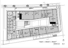 Grundriss-Ebenenübersicht #architecture #floorplan #officebuilding Zaha Hadid, Soho, Innsbruck, Haikou, Floor Plans, Floor Layout, Architecture