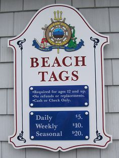 Beach Tags Ocean City, NJ