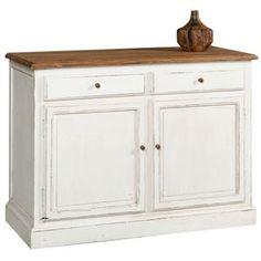 Credenza stile provenzale top in legno 2 sportelli e 2 cassetti