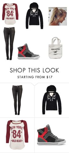 """OS commun Haley 1ere day"" by axouille-du ❤ liked on Polyvore featuring Plein Sud Jeanius, Abercrombie & Fitch, Supra and Hollister Co."