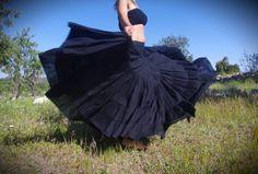 Flamenco Gypsy Witch Skirt Burning Man Skirt Belly Dance