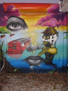 Enjoy the Art of Wynwood Walls in Miami's Art District after visiting us at: Joey's Italian Cafe 2506 NW Avenue Miami, FL 33127 Italian Cafe, 2nd Avenue, Art For Art Sake, Street Art Graffiti, Miami, 3d, Wall Art, Painting, Street Art