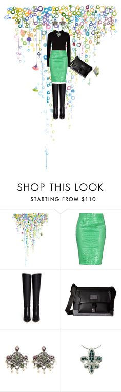 """""""Green Skirt !"""" by michelle858 ❤ liked on Polyvore featuring Balmain, Moschino Cheap & Chic, Jimmy Choo, Coach, Winter and winterstyle"""
