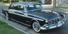 1956 Chrysler Imperial Factory Limousine. www.romanworldwide.com #orangecountylimo #lacountylimo #247limo