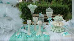 ΣΤΟΛΙΣΜΟΣ ΓΑΜΟΥ - ΒΑΠΤΙΣΗΣ :: Στολισμός Γάμου Θεσσαλονίκη και γύρω Νομούς :: ΣΤΟΛΙΣΜΟΣ ΣΤΑ ΧΡΩΜΑΤΑ ΤΗΣ ΜΕΝΤΑΣ - ΤΡΑΠΕΖΙ ΜΠΟΜΠΟΝΙΕΡΩΝ ΚΩΔ.: SG-0224 Table Decorations, Furniture, Home Decor, Party Ideas, Weddings, Google, Decoration Home, Room Decor, Wedding