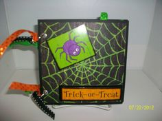 Hey, I found this really awesome Etsy listing at https://www.etsy.com/listing/81656672/trick-or-treat-chipboard-album-premade
