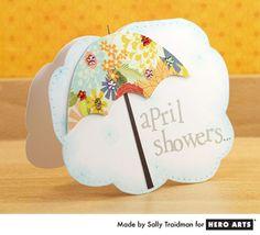 Hero Arts Cardmaking Idea: April Showers
