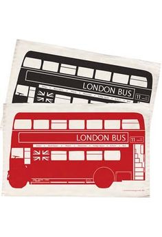 London Bus Tea Towel: Red at BBC Shop