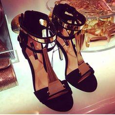 Maxing Gold Cuff Heels