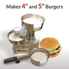 Check out this new commercial hamburger press I found on Amazon. It makes both 4 inch and 5 inch burgers. The press is made by My Burger Daddy. I found it very useful for making Hamburgers. I am going to use the smaller size for crab cakes. Just wanted to give a quick shout out.