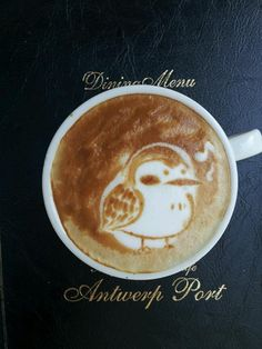 Singing bird latte art