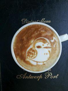 Singing bird latte art