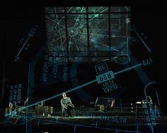 Volo di Notte, director Daniele Abbado, set Gianni Carluccio, video Luca Scarzella Stage Design, Set Design, Video Maker, Staging, Lighting Design, Scene, Costume, Theater, Role Play