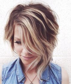 Short Side-Parted Asymmetrical Hairstyle