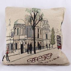 Dekorační povlak na polštář 44 x 44 cm Provence, Goblin, Ulice, Throw Pillows, Bed, Toss Pillows, Cushions, Stream Bed, Decorative Pillows