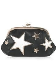 Dolce & Gabbana bkalc and white star coin purse