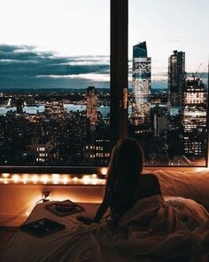 Imagen de city, girl, and view
