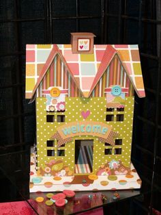 decorate with buttons for lalaloopsy house. How sweet!