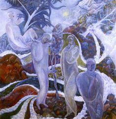 Albert Bloch - 1916, Summer Night, 1916, oil on canvas