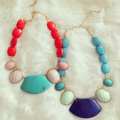 Alter Ego Necklaces - perfect mix and pop of color for any occassion.
