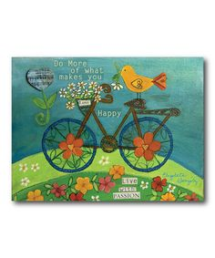 This 'Live with Passion' Canvas by COURTSIDE MARKET is perfect! #zulilyfinds