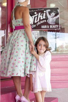 Mother-Daughter Photo Idea: Vintage Beauty Salon :: Inspire Me Baby