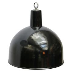 For Sale on - Factory hanging light. Weight: kg / lb Priced individual item. All lamps have been made suitable by international Vintage Industrial Lighting, Industrial Chandelier, Chandelier Pendant Lights, Pendant Lamp, Light Pendant, Black Exterior, White Enamel, Hanging Lights, Ceiling Lights