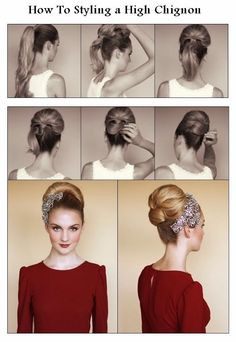 How To Styling a High Chignon - DIY & Crafts Tutorials