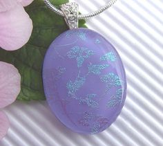 Fused Glass Pendant  Dichroic Jewelry  Glass by TremoughGlass, $25.00