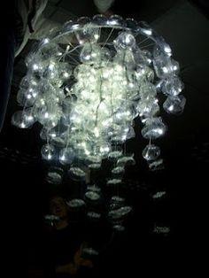 waterbottle jellyfish chandelier