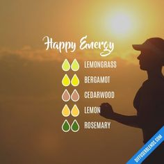Happy Energy - Essential Oil Diffuser Blend #Essentialoildiffusers
