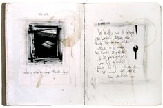 A page from ' VETE CON CUIDADO ' . unique handmade book . made by juanan requena * 2012